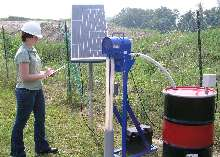 Oil Skimmer is solar powered for remote environments.