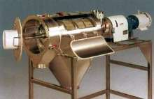 Centrifugal Screener features 3-A dairy accepted design.