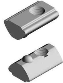 T-Slot Nuts facilitate alignment in aluminum profiles.