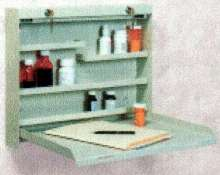 Wall-Mount Box stores medicine and provides work surface.