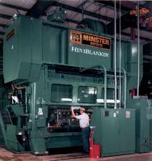 Press is designed for heavy blanking applications.