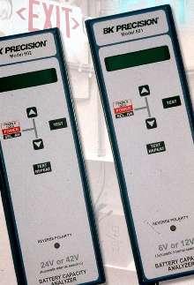 Analyzers display status of lead acid batteries.