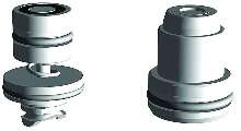 Coupling Elements offer space saving design.