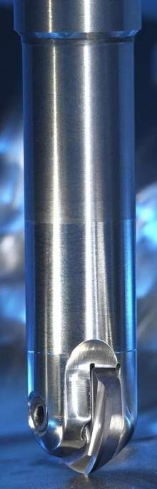 Helical Ball Nose Insert reduces vibration when cutting.