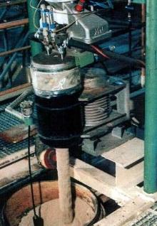 Vibratory Mixer uses no rotating parts.