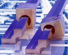 Square Rails reduce friction in linear guide system.