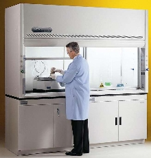 Laboratory Hoods have chemical-resistant fiberglass liners.