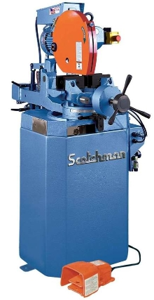 Semi-Automatic Cold Saw has electric power down feed.