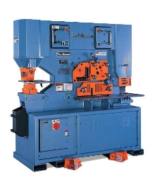 Ironworker offers 85 ton capacity punch.