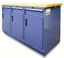 Cabinets ride on cushion of air to facilitate transport.