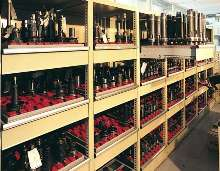 Modular Storage System holds preset CNC tooling.