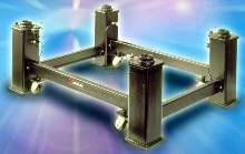 Vibration-Dampening Legstands are used for optical tables.