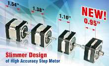 Stepper Motor features 0.9° step size.