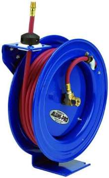 Aluminum Hose Reels withstand heavy-duty use.