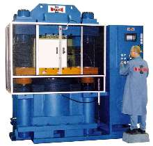 Hydraulic Compression Press has 1,000 ton max clamp force.