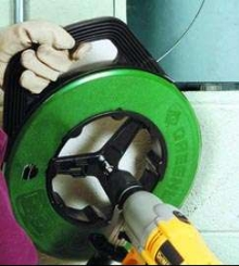 Fish Tape Power Winder facilitates tedious job.