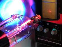 Lasers operate on single-phase, 120 Vac electricity.