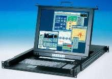Multi-Port KVM with 17 in. LCD mounts in 1U rack.