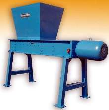 Industrial Shredder employs twin shaft design.