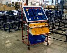 Tool Cart facilitates storage of hand tools.