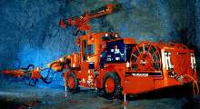 Mining Jumbo employs twin boom design.
