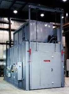 Batch Oven ages aluminum components.