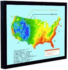 Displays are suited for electric and water utilities.