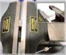 Bench Vise operates in vertical or horizontal positions.