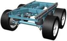 Slider Suspension accommodates wide-based single tires.