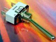 Toggle Switches are available with custom actuators.