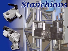 Stanchions add 4th or 5th axis to T-slotted frames.