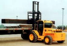 Forklift is suited fo use on rough terrain.