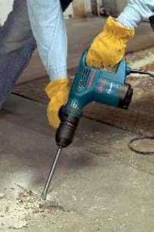 Chipping Hammer includes tile chisel.