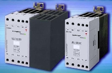 Three-Phase Solid State Relays have integral heat sink.