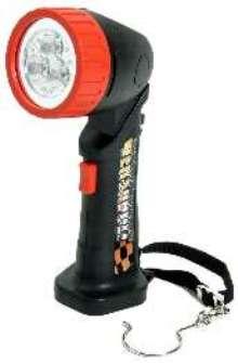 Cordless Flashlight features tri-LED design.