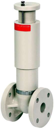 Pressure Relief Valve offers thermoplastic construction.