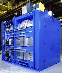 Gas Catalytic IR Oven cures powder on electrical components.