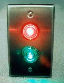 LEDs indicate whether doors are locked or unlocked.