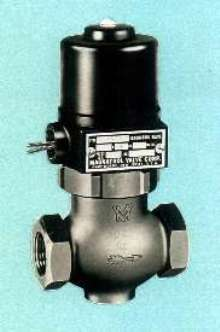 Two-Way Solenoid Valves range in size from ¼-3 in.