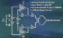 Wideband Amplifier suits DSL line-driver applications.
