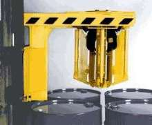 Forklift Attachments handle 4 drums at once.