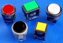 Pushbuttons come in illuminated or non-illuminated types.