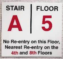 Stairwell Signs guide users through complete darkness.