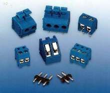 Terminal Blocks use integrated springs for wire retention.