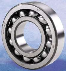 Ball Bearings accommodate heavy radial and thrust loads.