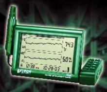 Chart Recorder measures temperature and humidity.