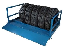 Adjustable Storage System offers tire storage accessory.