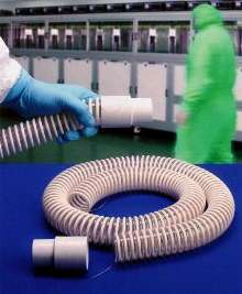 Vacuum Hose features molded cuff and grounding wire.