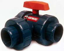 Multi-Port Ball Valve simplifies piping connections.