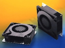 Brushless DC Blower cools compact electronics.